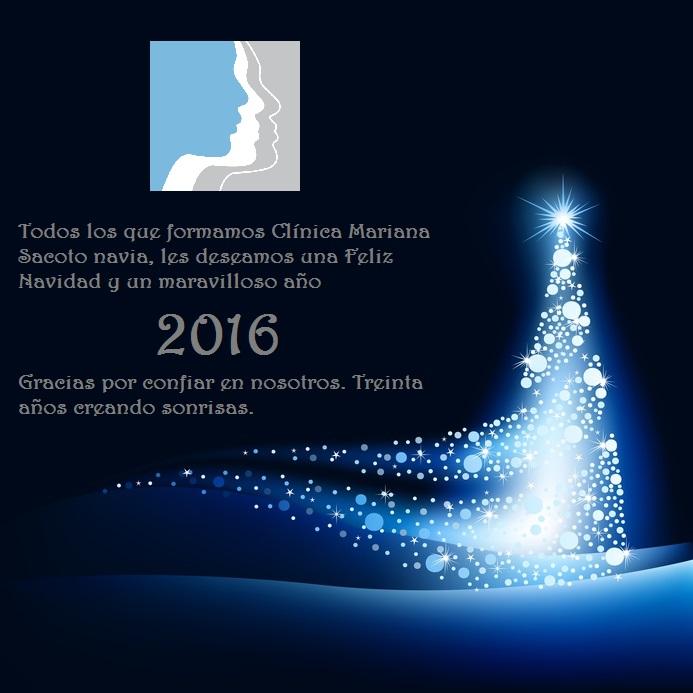 Feliz Navidad Clínica Mariana Sacoto Navia
