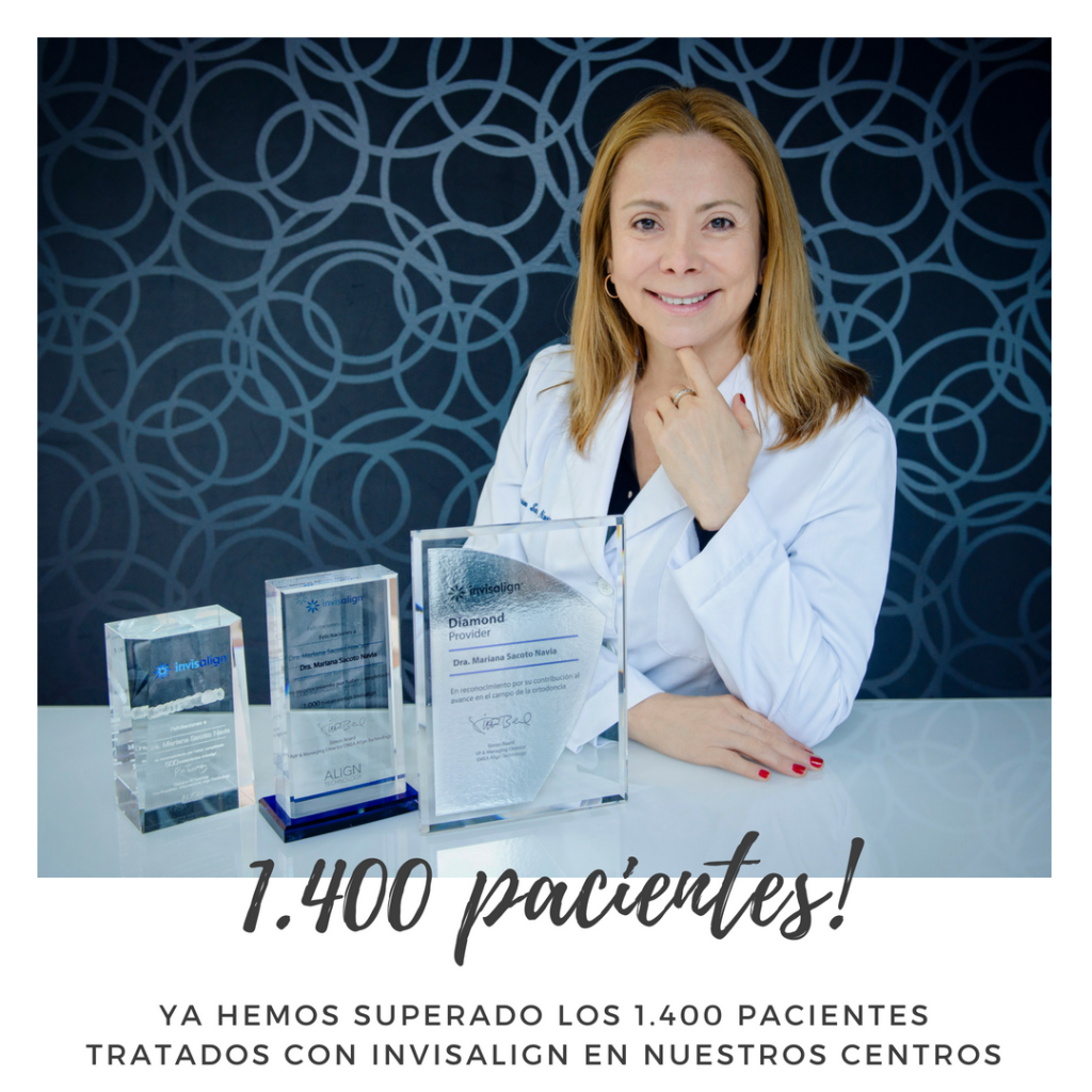 Clinica Exclusiva de Invisalign Doctora Mariana Sacoto Navia más de 1400 pacientes tratados con Invisalign
